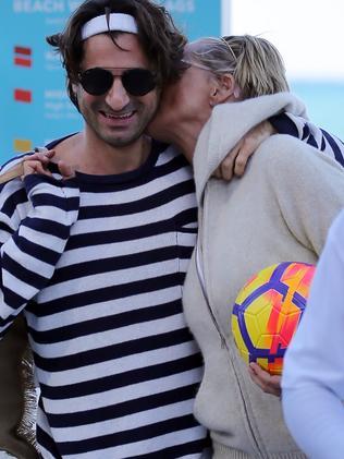 Sharon Stone and Angelo Boffa in Maimi. Picture: MEGA