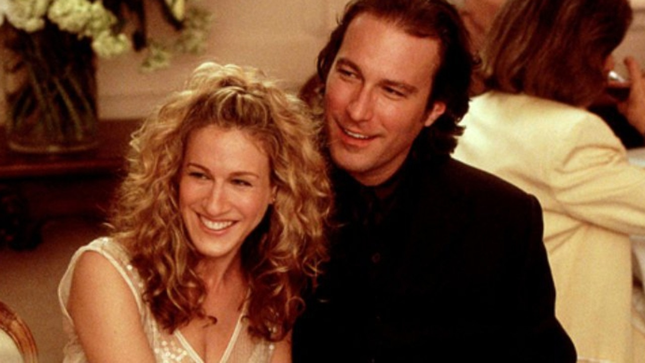 Sarah Jessica Parker (as Carrie) and John Corbett (as Aidan) in Sex and the City.