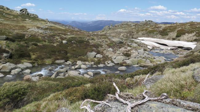 18/72Thredbo to Kosciuszko Walk, Thredbo-Perisher area in Kosciuszko National Park NSW 13km return - 4 to 5 hours Go for a day trek in the Snowy Mountains, scaling Australia's highest peak. It's best to do this one in spring to autumn - when wildflowers are blooming (December to March) and the snow abates. Start off at Kosciuszko Express chairlift at Thredbo, jump on and ascend into the sky. From there, you'll make your way to the Snowy River, above Lake Cootapatamba and to the summit of Kosciuszko. We've done a deep dive on what it's like to do the famous Kosciuszko hike.