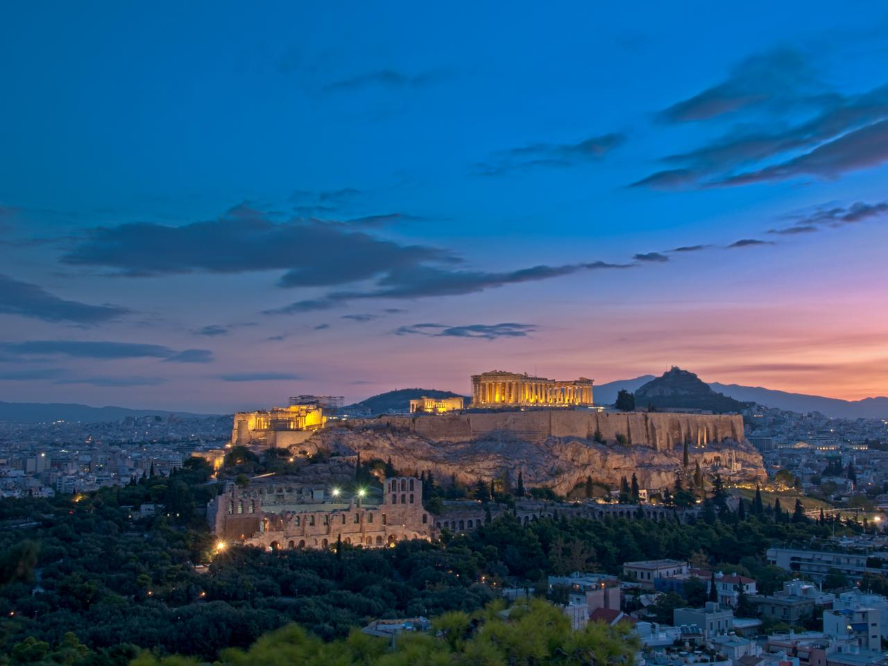 Athens Acropolis at dawn