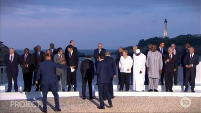 'Awkward' Scott Morrison at G7
