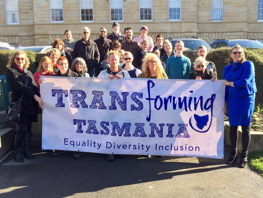 The group Transforming Tasmania is pushing for transgender people to have full equality and dignity under the law. Picture: Transforming Tasmania/Facebook