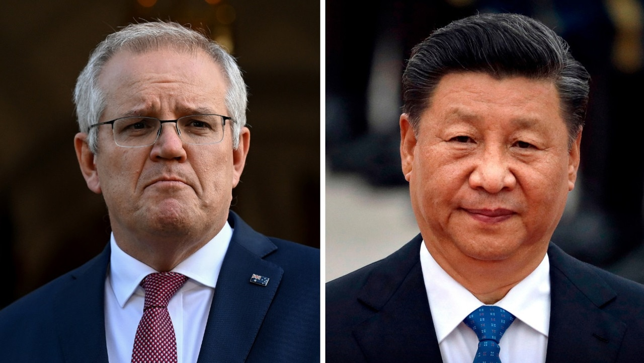 Australian PM Scott Morrison and Chinese President Xi Jinping. Relations between the countries have cooled in recent years.