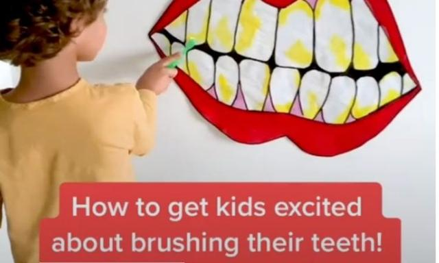 TikTok video shows fun way to teach your kids to brush their teeth