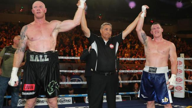 Hall and Gallen's six-round bout was ruled a majority draw. Picture: Michael Klein