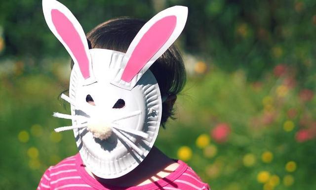 Cardboard bunny mask
