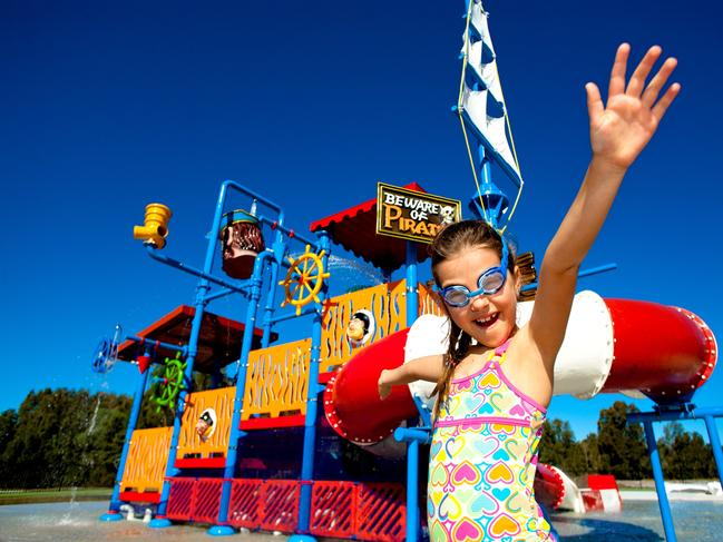 BIG4 SALTWATER, YAMBA HOLIDAY PARK Salty's Cove Yamba is a water park complete with slides, a water play area and tipping bucket into a large lagoon pool. Website  ADDRESS: 286 O'Keefes Ln, Palmers Island NSW 2463