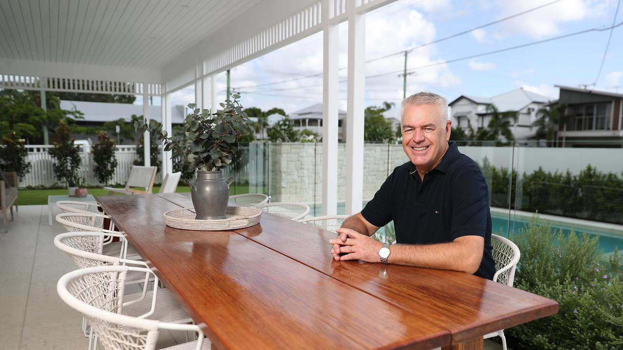 The 17m long outdoor area beside the pool is Mark Spedding's favourite part of the renovated Hawthorne home. IMAGE: Peter Wallis