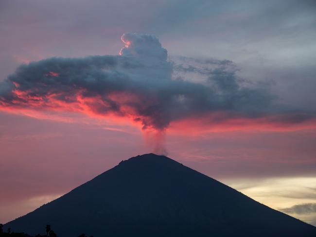 Mount Agung, Bali's most active volcano. Picture: Juni Kriswanto