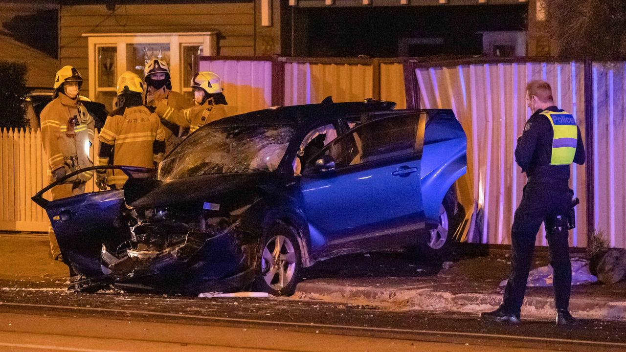 Two of the car's occupants are fighting for life, while a further four were injured. Picture: Jason Edwards