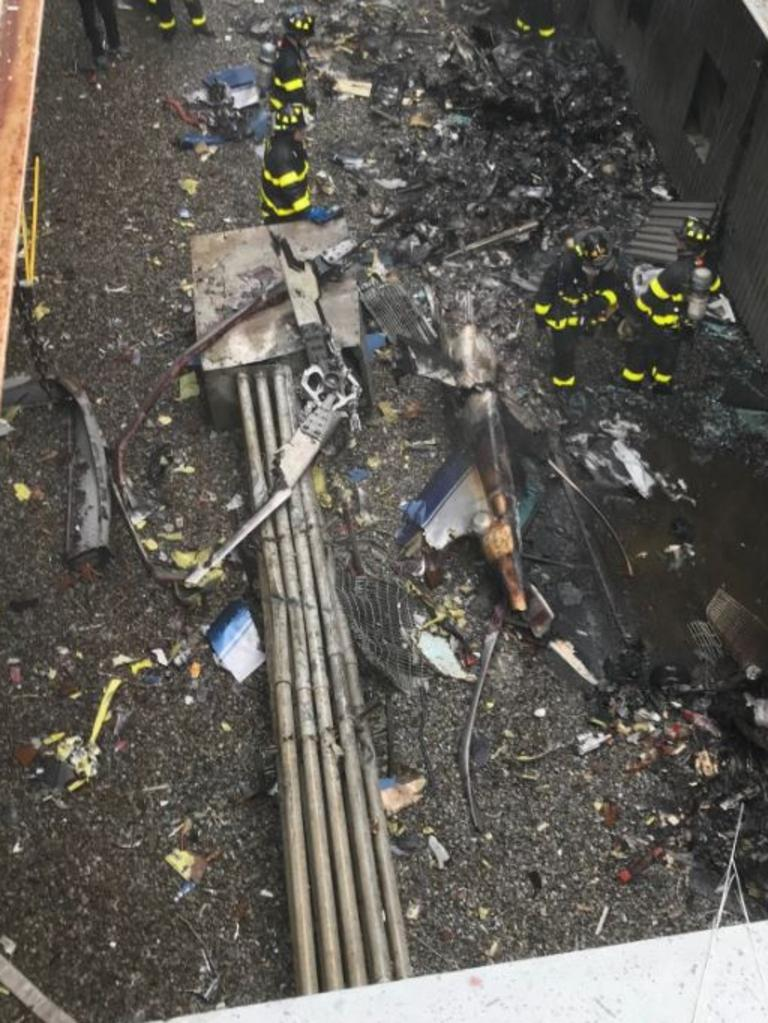 The scene of the crash. Picture: FDNY/Twitter