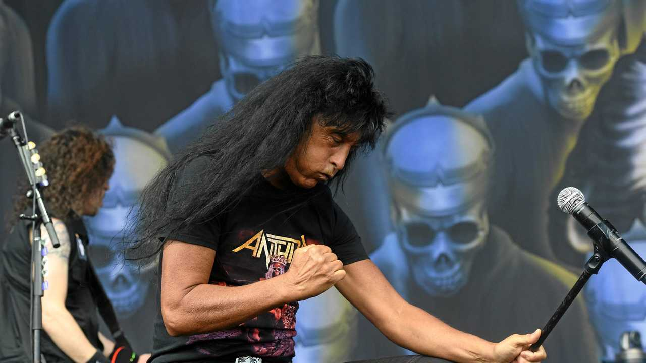 Anthrax perform at Download Festival 2019 in Melbourne at Flemington Racecourse. Picture: Asagai Images