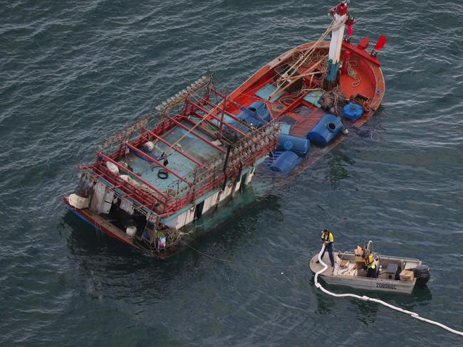 The vessel was found off Cape Kimberley near the Daintree River. Picture: Marc McCormack