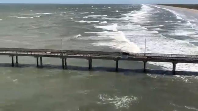 NWS Surveys Coastal Damage in Corpus Christi From Hurricane Hanna
