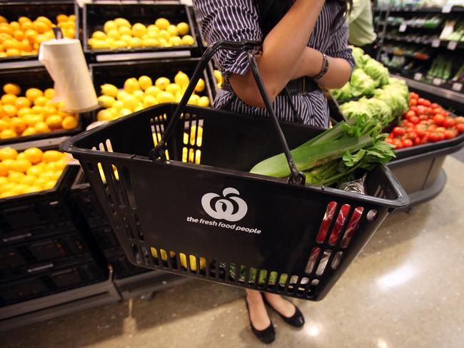 Kogan Pantry can't compete with Coles or Woolworths when it comes to fruit and vegetables. Picture: Jodie Richter