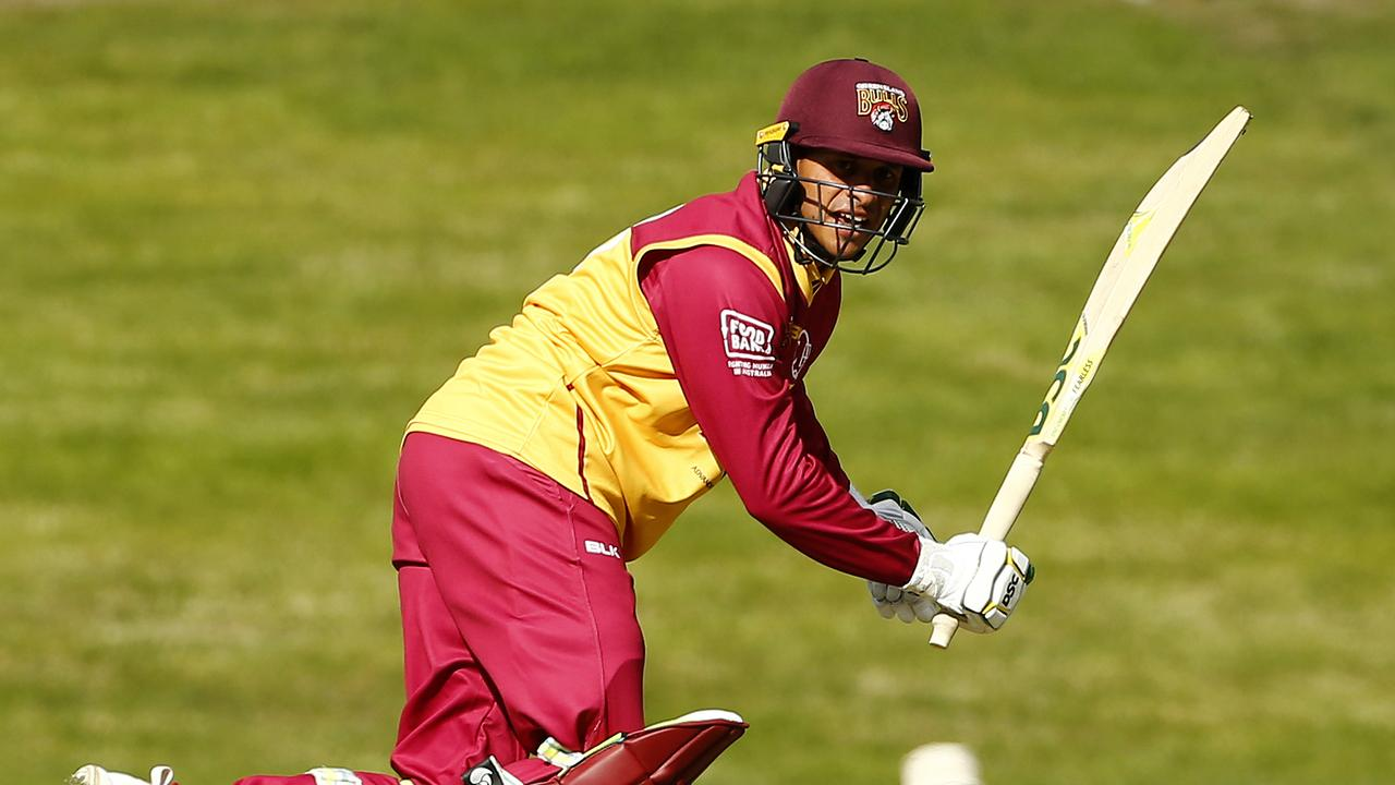 Usman Khawaja responds to Test axing by steering Queensland to Marsh Cup final