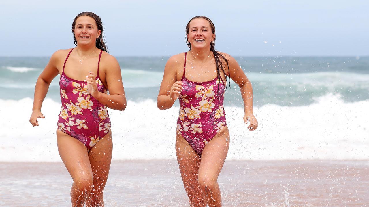 Twin sisters Katelynn and Kimberley Doyle. Pic: Tim Hunter
