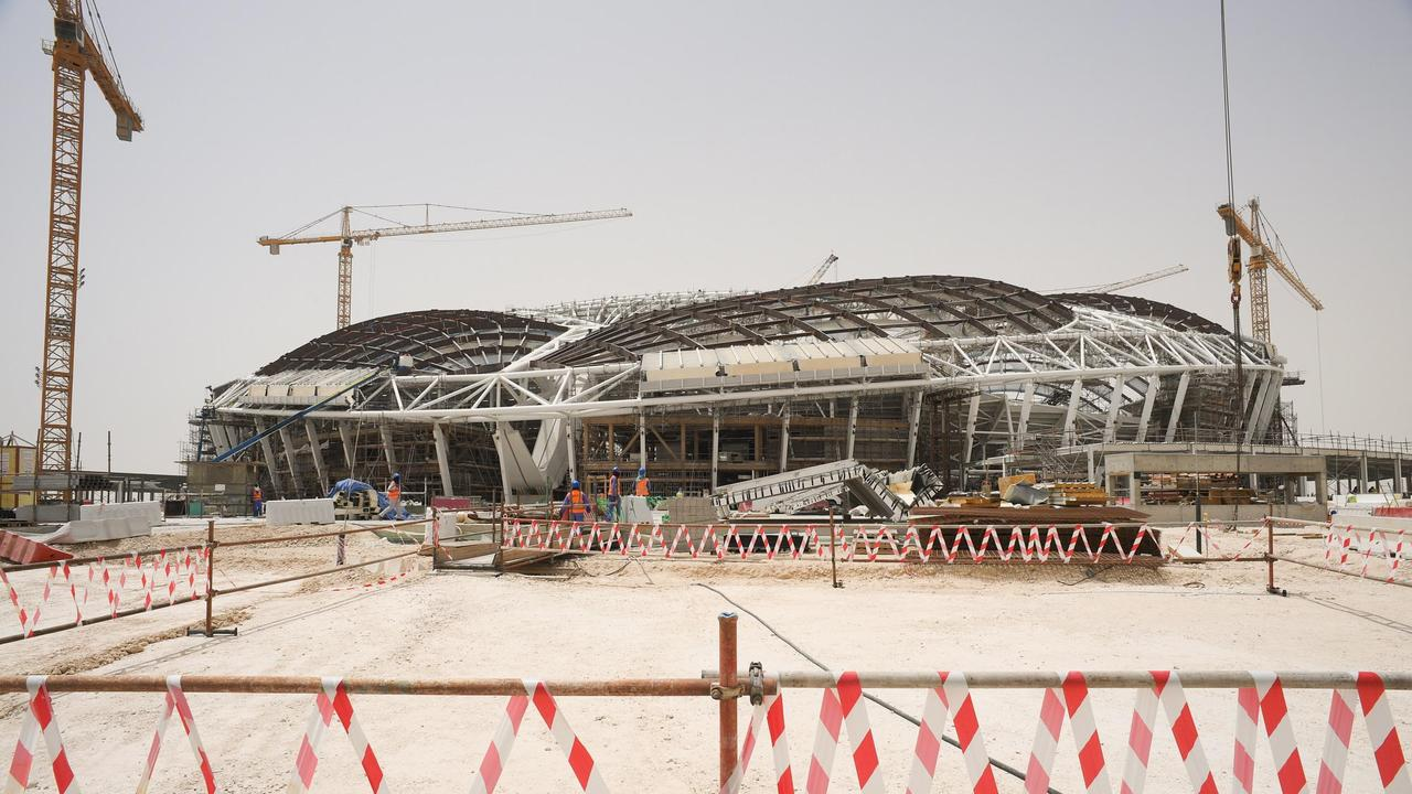A view of the construction site of Al Wakrah Stadium. Picture: Mikhail Aleksandrov/TASS