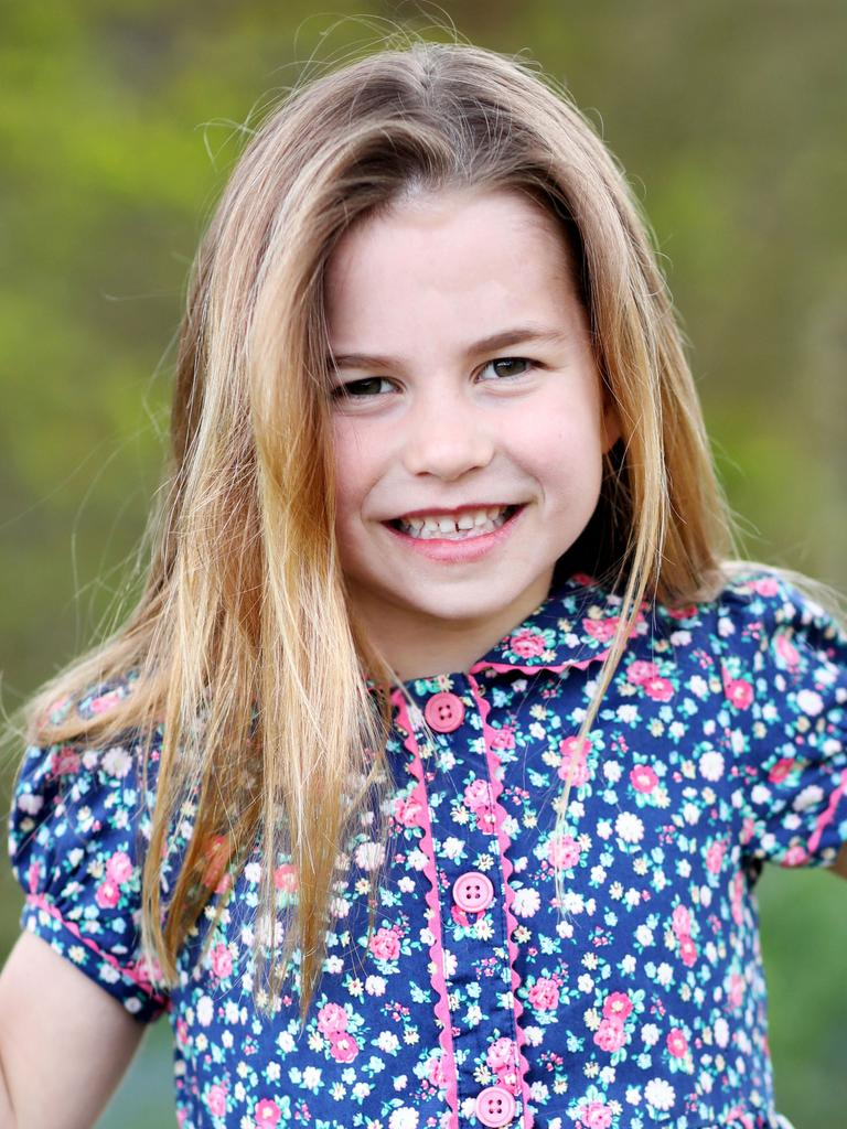 Lilibet's full name bears more than a passing resemblance to the full name of Princess Charlotte. Picture: AFP.