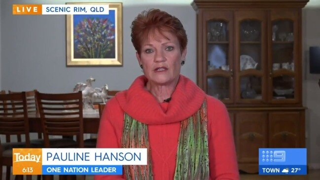 Pauline Hanson threatens QLD Premier with High Court challenge over border closure (Today Show)
