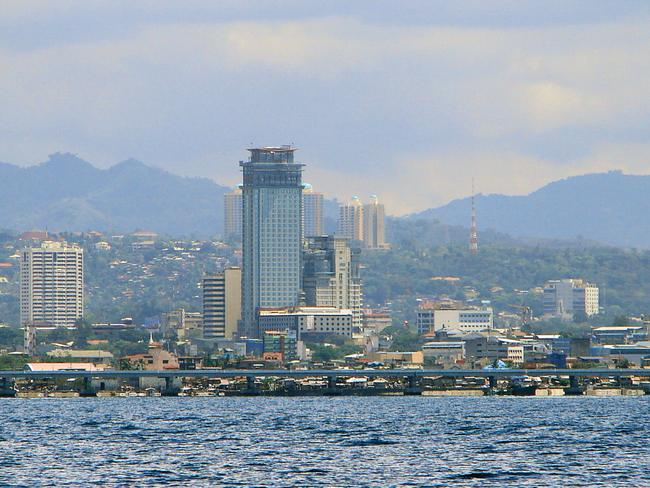 The skyline of Cebu City where Margallo hid out while police had 16 warrants against for the rape and torture of impoverished Filipino children with Scully. Picture: Wikimedia Commons.