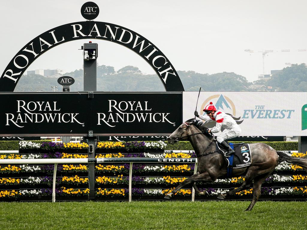 Kerrin McEvoy on Classique Legend wins race 7 at the TAB Everest event at Royal Randwick Racecourse on October last year. Picture: Hanna Lassen/Getty Images for Australian Turf Club