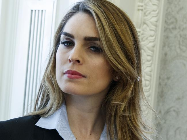 White House Communications Director Hope Hicks will be leaving the top job. Picture: Evan Vucci/AP