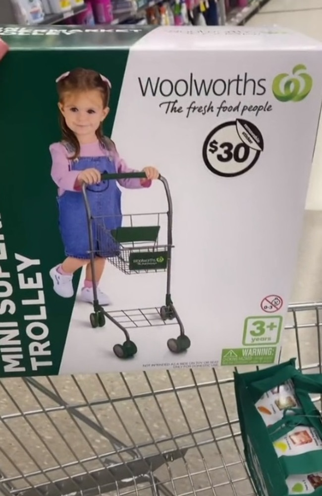 A new mini toy range has just hit Woolies stores – and shoppers are very excited. Picture: TikTok/ninaleekisses