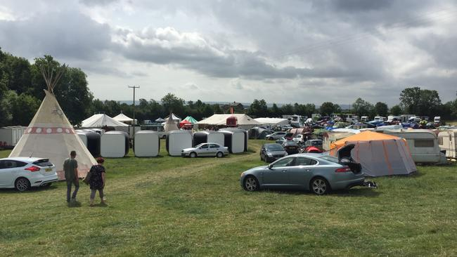 General view of the Swingfields festival.