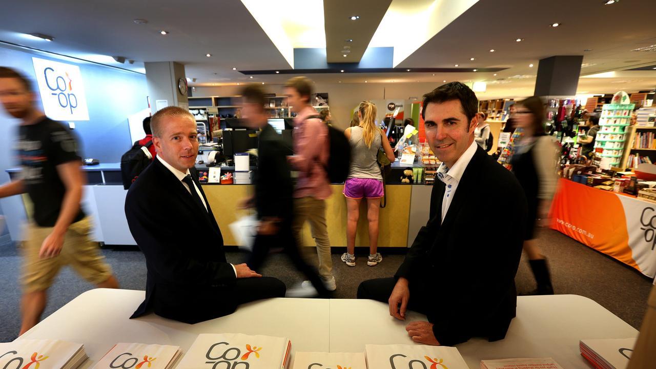 Co-op Bookshop chief executive Thorsten Wichtendahl, left.