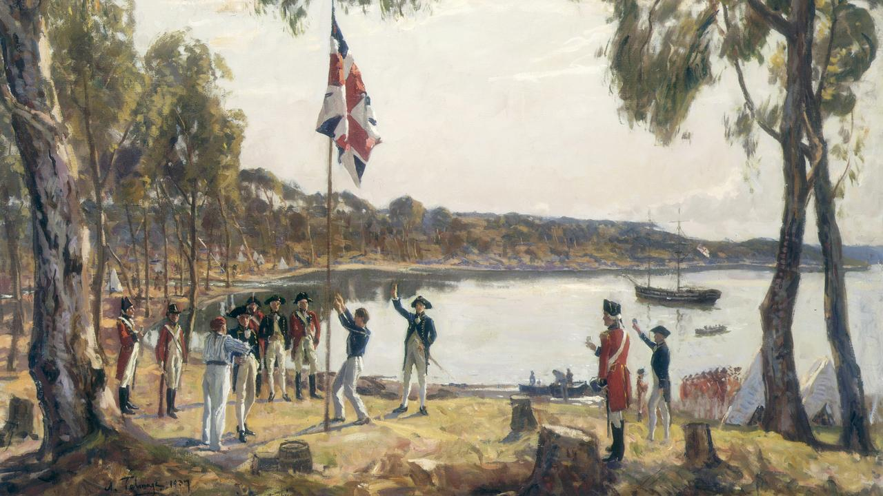 'The Founding of Australia', a 1937 sketch by Algermon Talmage. Pic State Library of NSW.