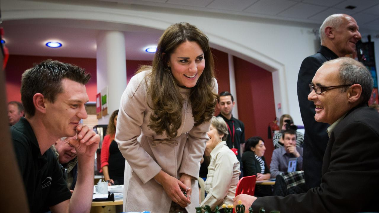 The Duchess of Cambridge eased into royal life slowly. Kate visiting Jimmy's night shelter, in 2012. Picture: Paul Rogers/WPA Pool/Getty Images.