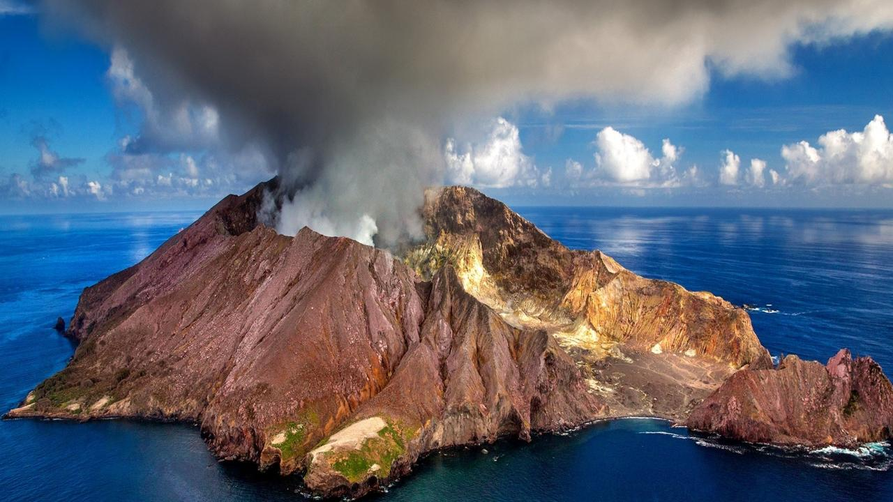 White Island volcano in New Zealand erupted on Monday sending smoke and ash into the air.