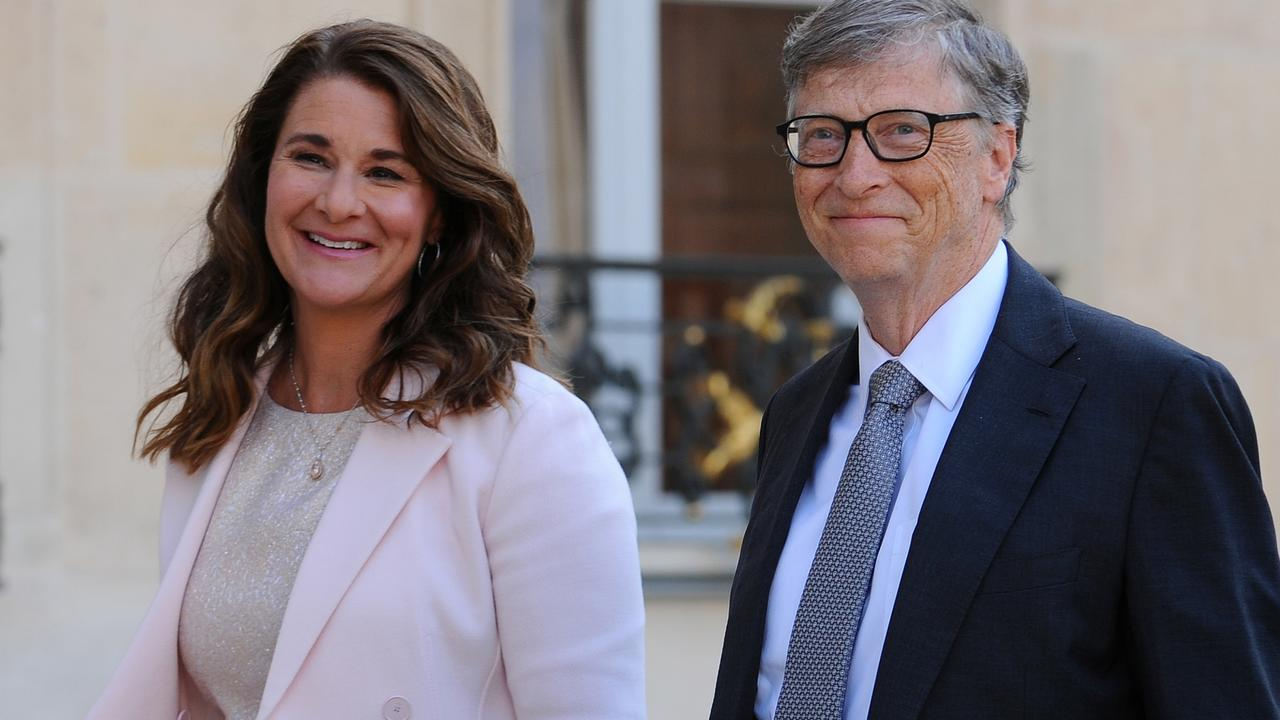 Bill and Melinda Gates together in Paris in 2017. Picture: Frederic Stevens/Getty Images