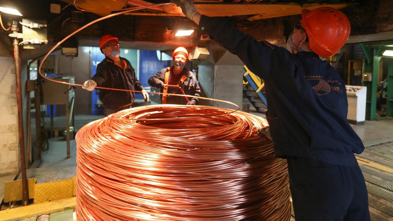 At today's price of about $US8900 a tonne, copper has bounced to a nine-year high from a standing start only a few months ago. Picture: Bloomberg