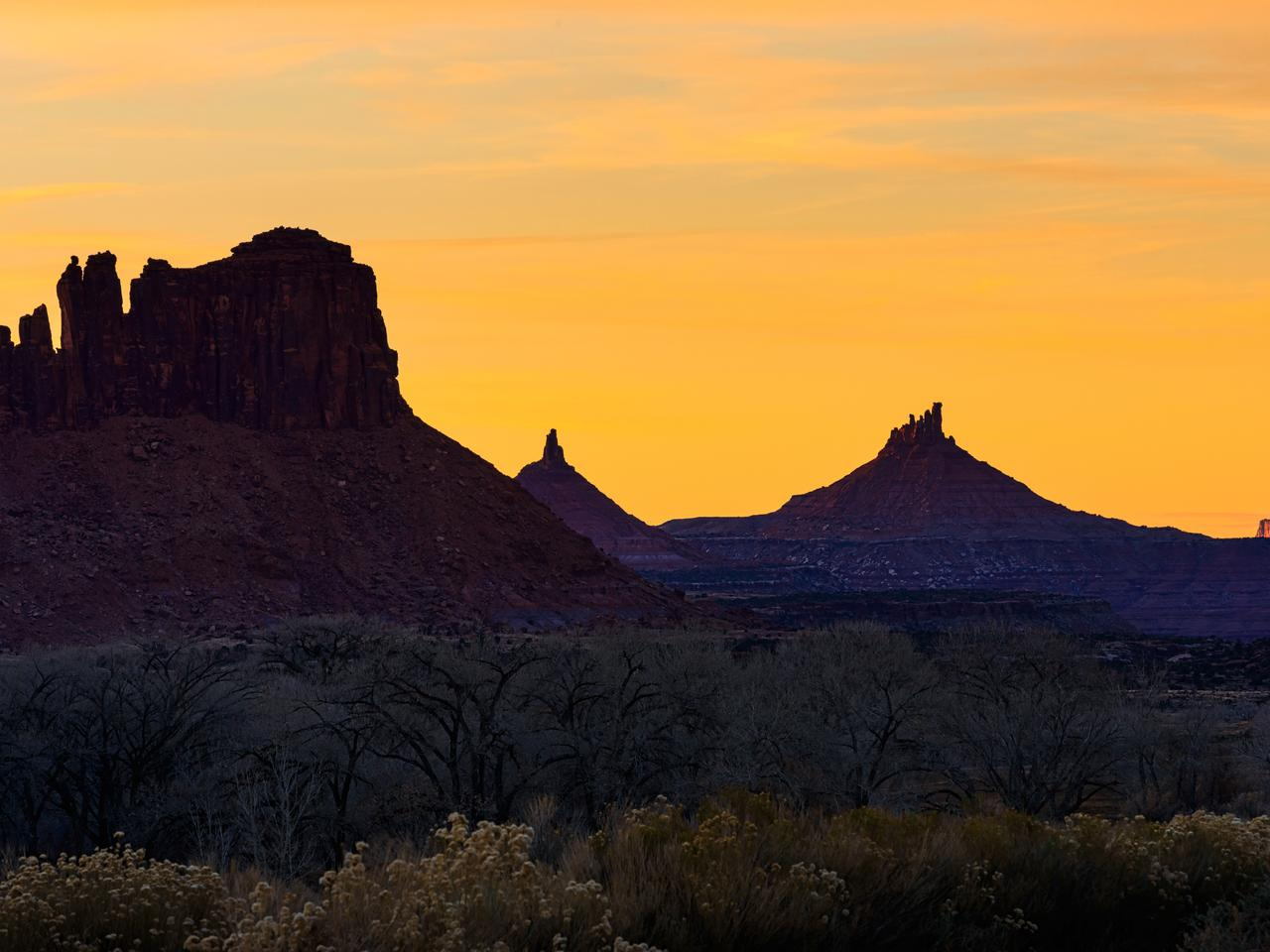 Indian Creek Bears Ears National Monument - Scenic canyon country in Utah, USA.