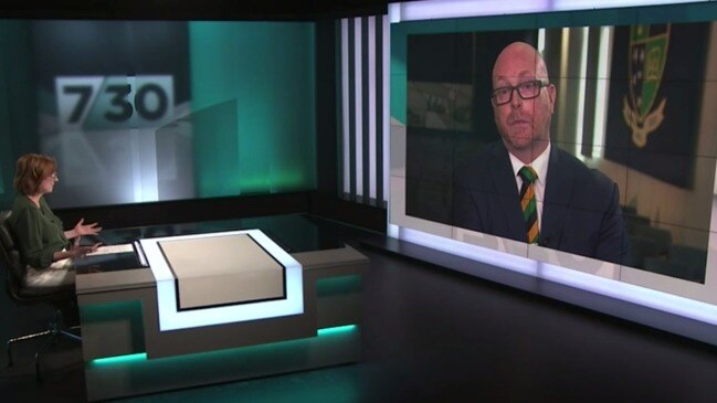 Leigh Sales grills new St Kevin's principal (ABC)
