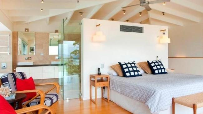 The master bedroom in the house at 5 Allambi Rise, Noosa Heads.