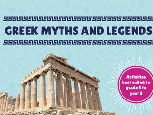 artwork for Greek Myths and Legends inquiry kit