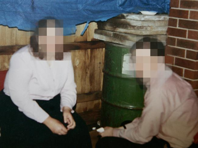 The green barrel in Mr Boyle's backyard, where he hid his wife's body. Picture: Trezise Paul