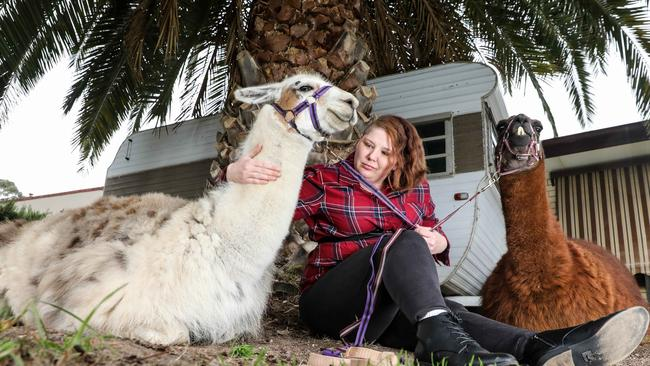 Jodie Hume with Leonardo and Theodore. Picture: Russell Millard/AAP