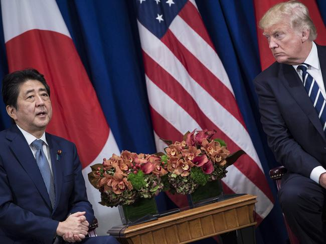 Japan's Prime Minister Shinzo Abe may be the odd one out in negotiations with North Korea. Picture: AFP Photo