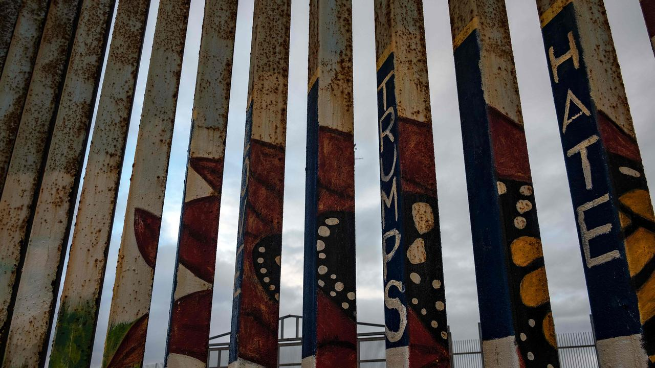 A section of the US-Mexico border fence seen from Tijuana, Mexico. Picture: AFP