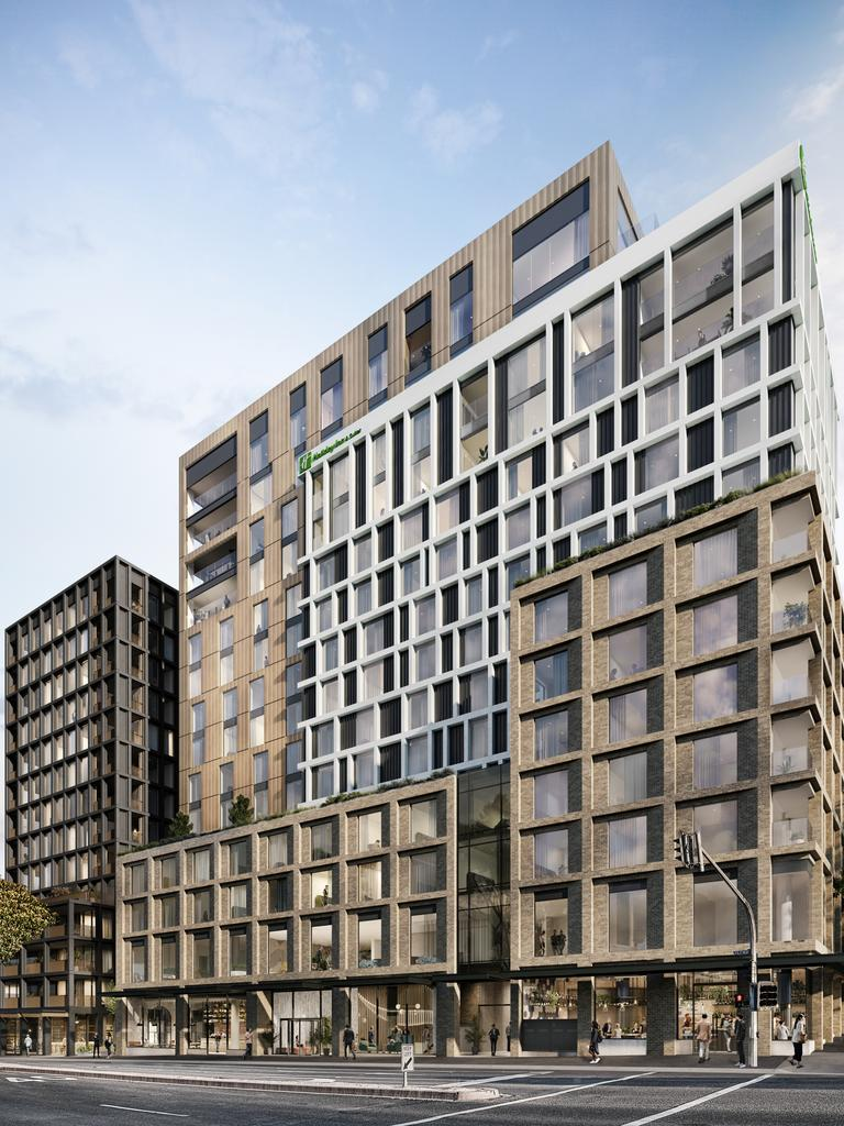 Ryrie Home is part of the Geelong Quarter project, which includes a 180-room Holiday Inn Hotel and Suites.