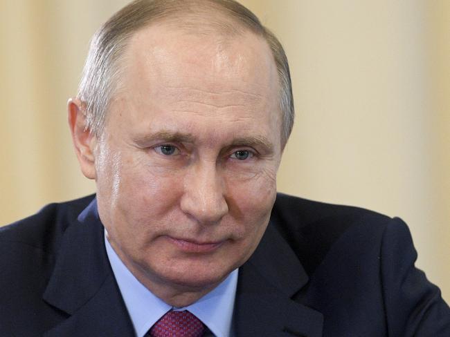 Russian President Vladimir Putin (pictured) met with America's top diplomat yesterday. Picture: Alexei Druzhinin/Sputnik, Kremlin Pool Photo via AP