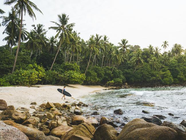 SURF WITH SOUL: SRI LANKA Blessed with pretty beaches and great surf, eight UNESCO World Heritage Sites and one of the highest rates of biodiversity in the world; it's little wonder Sri Lanka was named by Lonely Planet as its No.1 destination for 2019. And for fit-cation fans, the island nation has another big drawcard: epic surf. Soul & Surf operates a permanent retreat on the country's south coast. Post-surf guests can retreat to the jungle yoga studio for a Vinyasa class or meditation session, followed by an indulgent Ayurvedic spa treatment.