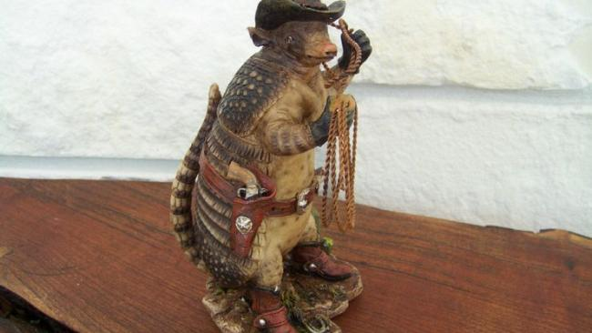 9/10The Harmadillo In September 2004, Sydney Airport officials seized a taxidermy armadillo complete with armadillo-sized hat and little armadillo gun holsters. Apparently it was a piggy bank.