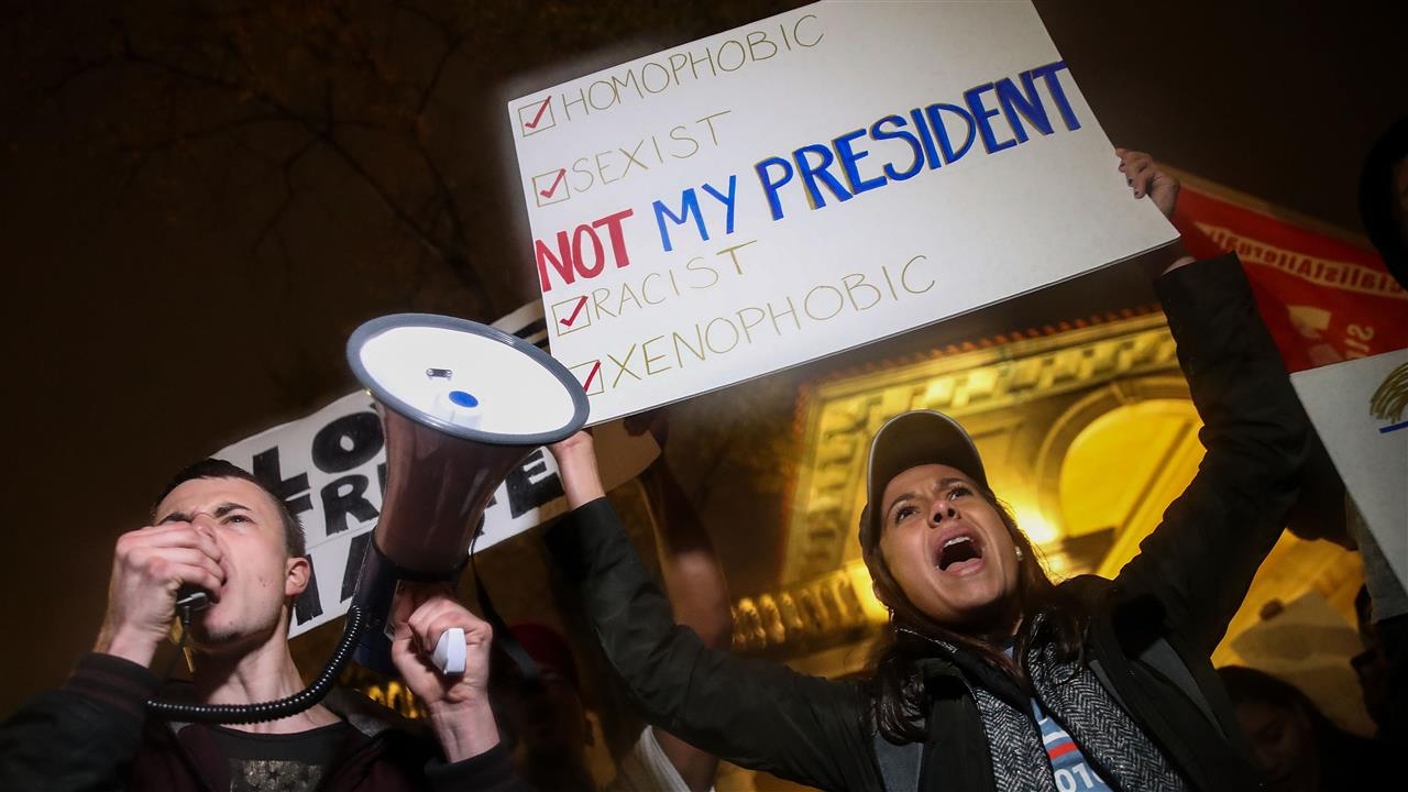 Thousands Protest Trump Victory