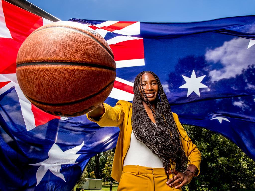 Ezi Magbegor is part of the Australian WNBA contingent. Picture: Tim Carrafa