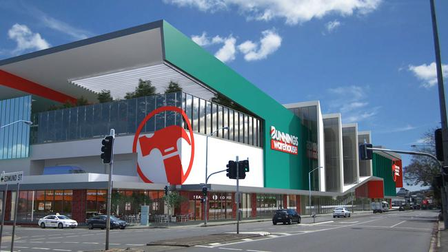 The new-look store will run over four levels. Picture: BrisbaneDevelopment.com
